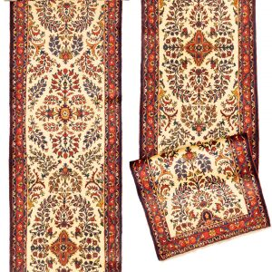 Hand-Knotted Mehraban Runner Rug