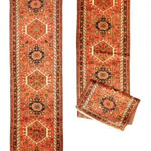 Hand-Knotted Gharajeh Runner Rug