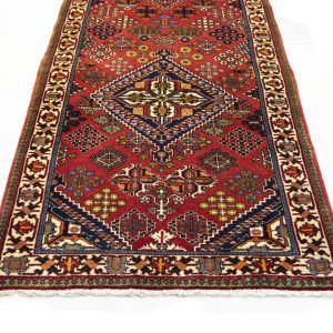 Hand-Knotted Meimeh Runner Rug