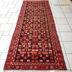 Hand-Knotted Persian Runner Rug