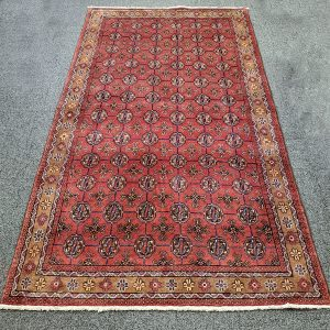 Hand-Knotted Turkman Rug