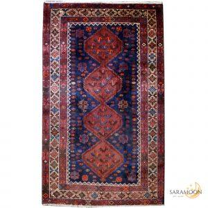 Hand-Knotted Shiraz Rug in Dark Unique Colours
