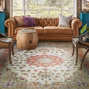 Hand-knotted Silk-Wool Luxury Tabriz rug