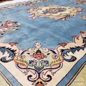 Hand-knotted Tabriz Blue Rug