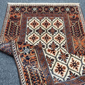 Hand-knotted Small Balooch Rug